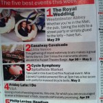 Time Out&#039;s top 5 events of the week May 2011